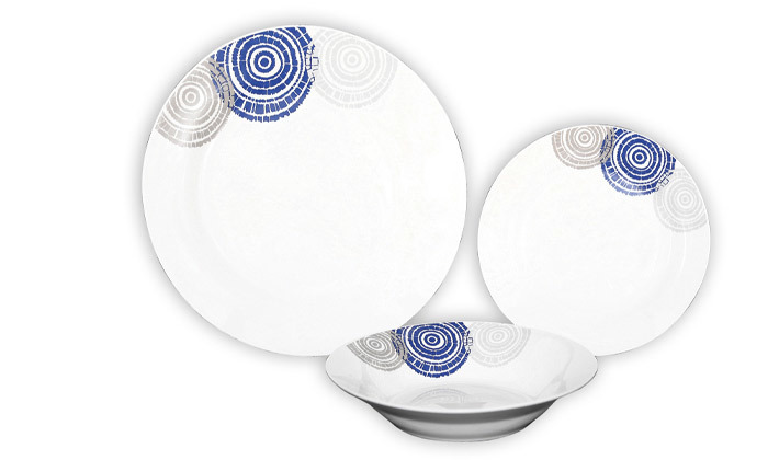 2 סט כלי אוכל פורצלן 18 חלקיםPlanero