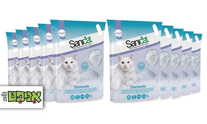 2 מארז 10 שקי חול קריסטל לחתולים Sanicat