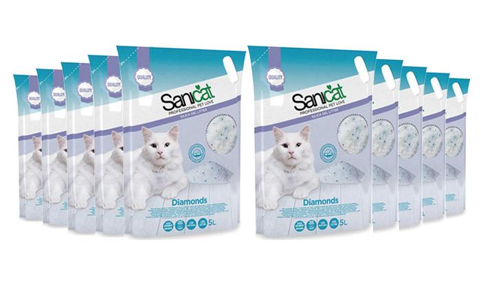 3 מארז 10 שקי חול קריסטל לחתולים Sanicat