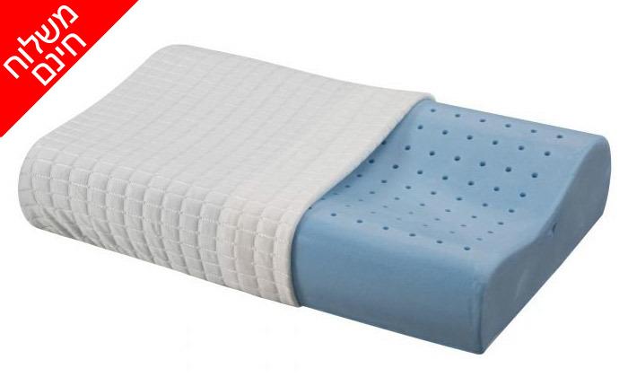 3 כרית ויסקו Aeroflex, דגםIce Contour Pillow - משלוח חינם