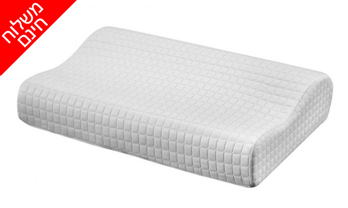 5 כרית ויסקו Aeroflex, דגםIce Contour Pillow - משלוח חינם