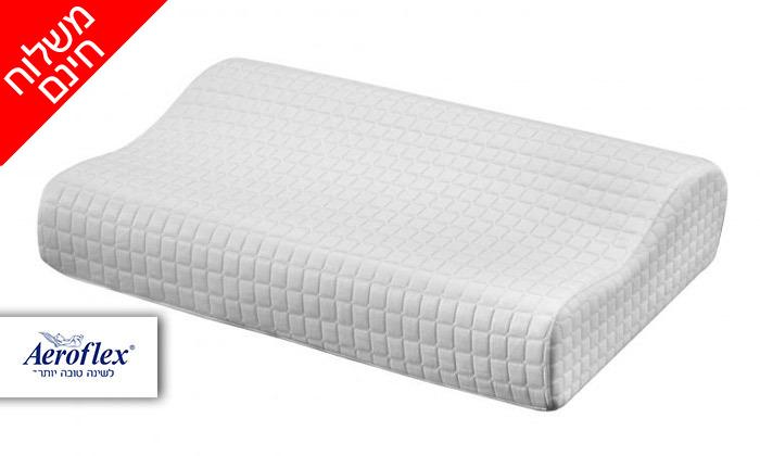 2 כרית ויסקו Aeroflex, דגםIce Contour Pillow - משלוח חינם