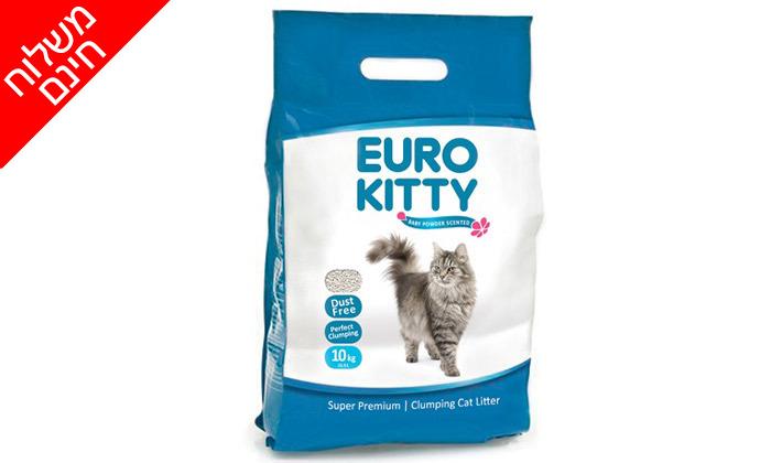 3 מארז 10 שקי חול מתגבש לחתולים יורו קיטי EURO KITTY