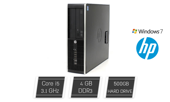 2 מחשב נייח מחודש HP עם זיכרון 4GB ומעבר i5