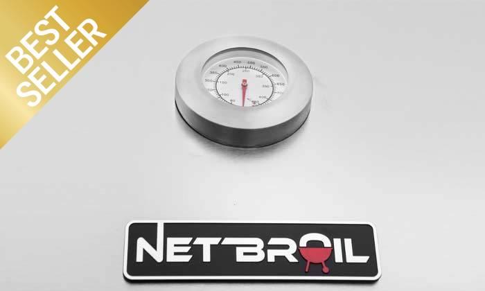 8 גריל גז 4 מבערים Net Broil