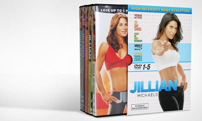 2 ערכת DVD ליוגה וכושר ביתי של Jillian Michaels