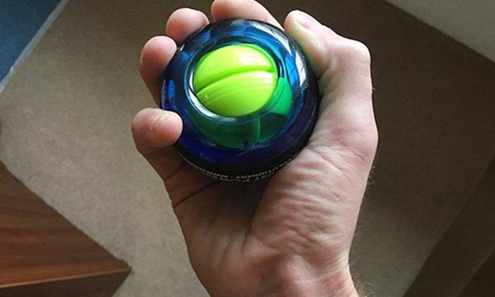 3 כדור כוח עם תאורה לשרירי כף היד