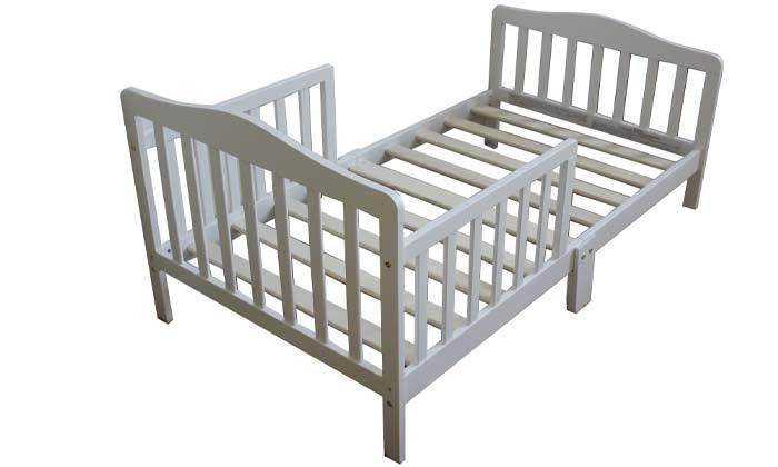 5 מיטת מעבר אבר גרין מעץ מלא עם מזרן