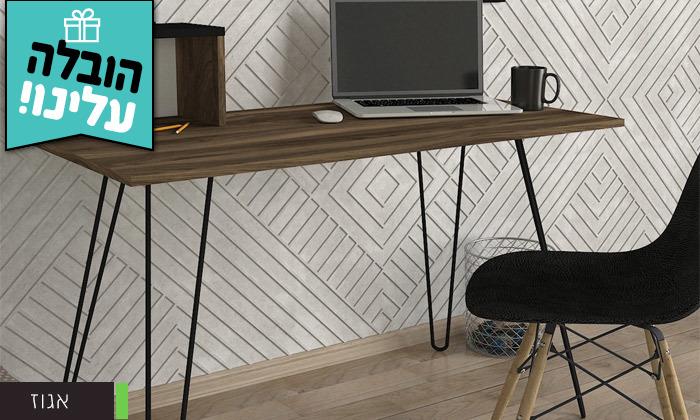 5 שולחן כתיבה עם רגלי סיכה, דגם עומר - משלוח חינם