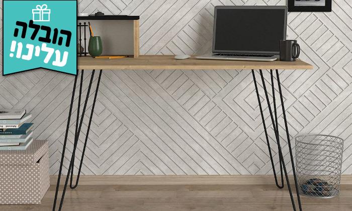 10 שולחן כתיבה עם רגלי סיכה, דגם עומר - משלוח חינם