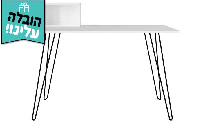 7 שולחן כתיבה עם רגלי סיכה, דגם עומר - משלוח חינם