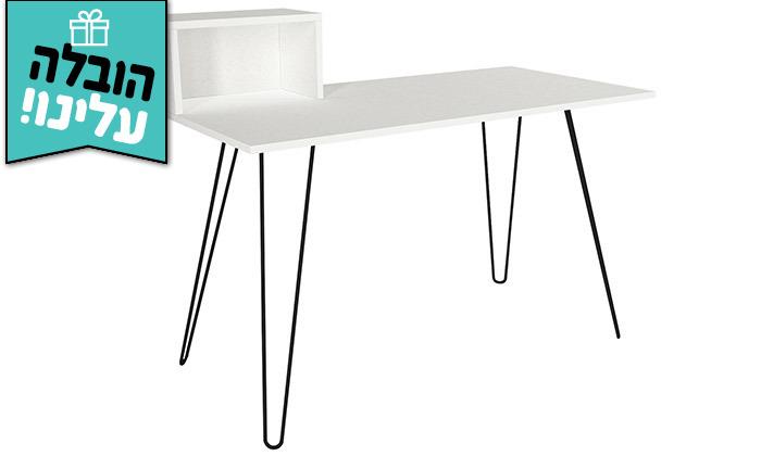 8 שולחן כתיבה עם רגלי סיכה, דגם עומר - משלוח חינם
