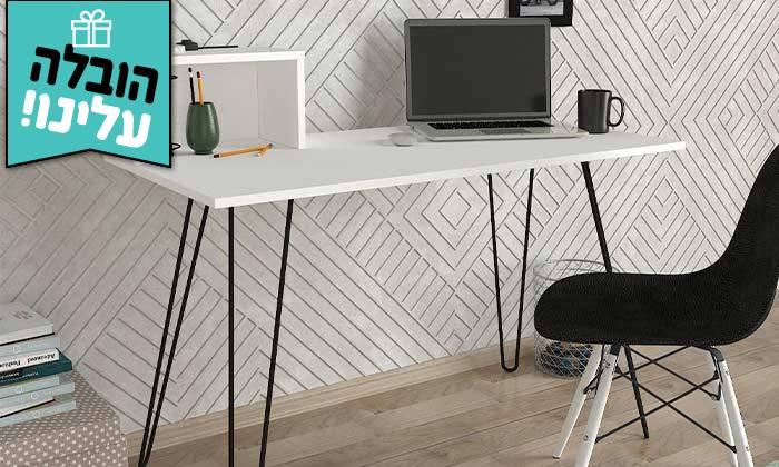 2 שולחן כתיבה עם רגלי סיכה, דגם עומר - משלוח חינם