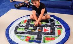 משטח משחקים מתקפל לשק צעצועים