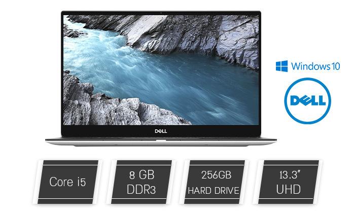 "2 מחשב נייד חדש DELL דגם XPS 9380 עם מסך מגע ""13, זיכרון 8GB ומעבד i5"