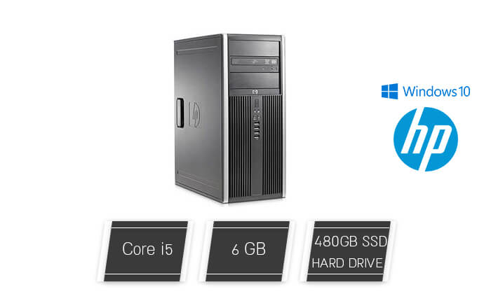 2 מחשב נייח מחודש HP/DELL/Lenovo עם זיכרון 6GB ומעבד i5