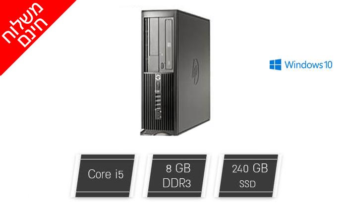 2 מחשב נייח מחודש HP/DELL/Lenovo עם זיכרון 8GB ומעבד i5 - משלוח חינם