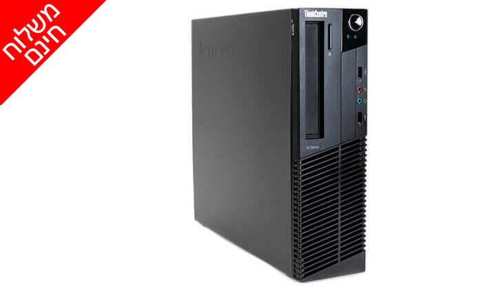 """3 מחשב נייח מחודש HP/DELL/Lenovo עם זיכרון 4GB ומעבד i5, כולל מסך """"21.5 חדש ומשלוח חינם"""