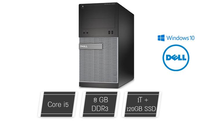 2 מחשב נייח מחודש DELL דגם 7010מסדרת OptiPlex עם זיכרון 8GB ומעבד i5