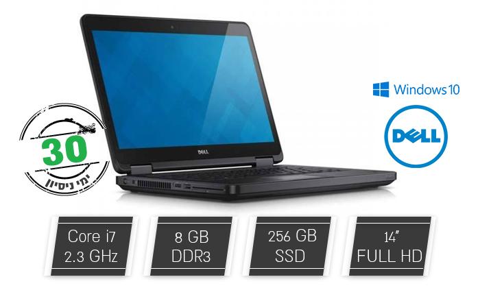 """2 מחשב נייד מחודש DELL, דגם E5450 מסדרתLatitude עם מסך """"14, זיכרון 8GB ומעבד i7"""