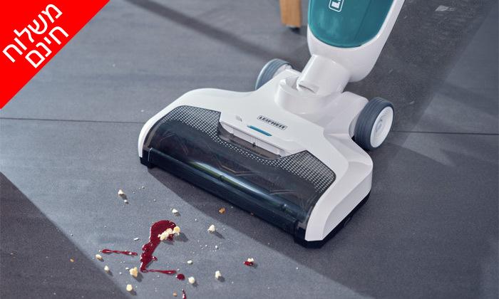 10 שואב אבק ושוטף רצפות נטען LEIFHEIT - משלוח חינם