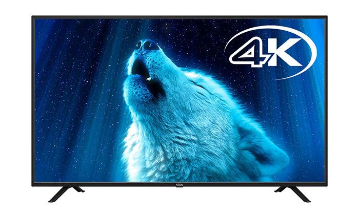 2 טלוויזיה חכמה 4K נאון NEON בגודל 65 אינץ'