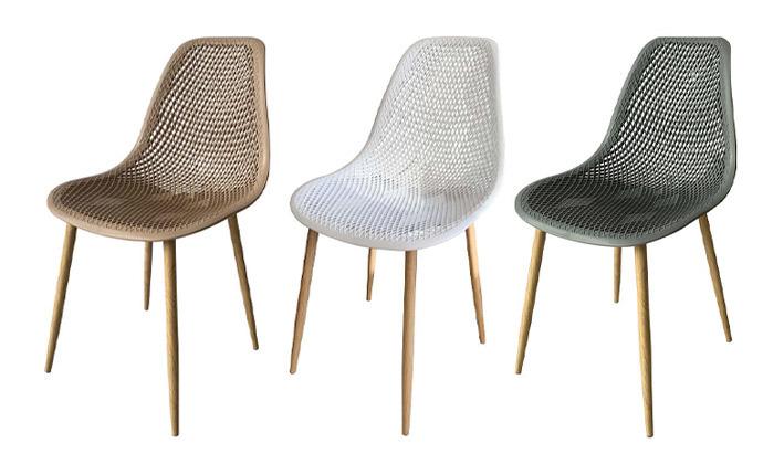 2 סט 4 כיסאות פלסטיק