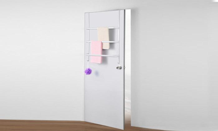 3 מתלה מגבות לתלייה מאחורי הדלת