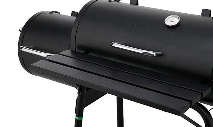 4 מעשנת בשר משולבת גריל Peerless