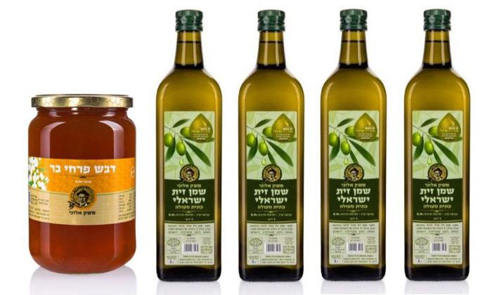 2 מארזי שמן זית כתית ומארזי דבש אורגני במשלוח חינם ממשק אלוני