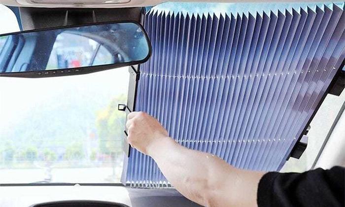 4 מגן שמש וילון קדמי לרכב Sunfree