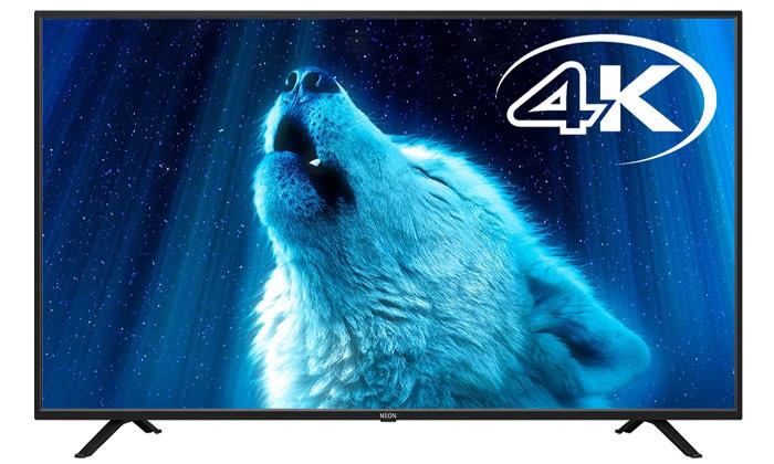 2 טלוויזיה חכמה NEON 4K מסך 43 אינץ'