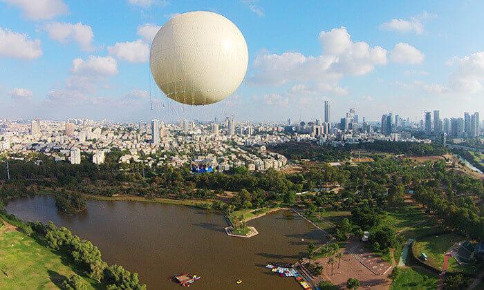 3 כדור פורח tlv balloon , בפארק הירקון
