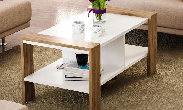 4 שולחן סלון עם מדף