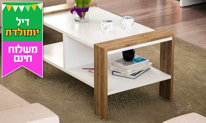2 שולחן סלון עם מדף - משלוח חינם