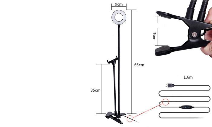 4 סט אביזרי תאורה לצילומי סלפי או וידאוNAVY