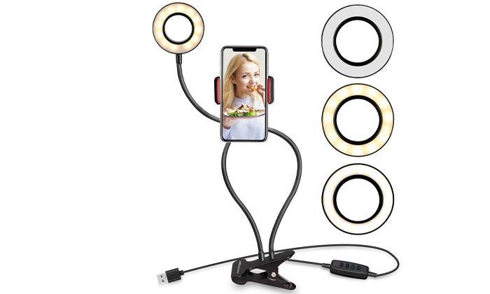 2 סט אביזרי תאורה לצילומי סלפי או וידאוNAVY