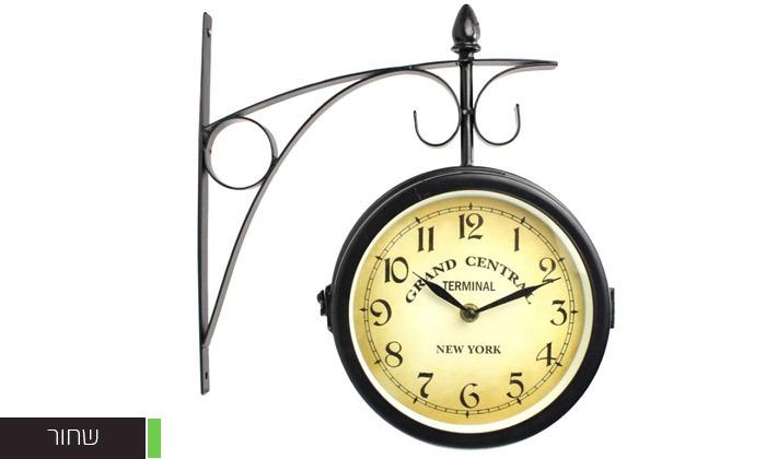 3 שעון קיר דו צדדי בעיצוב וינטג'