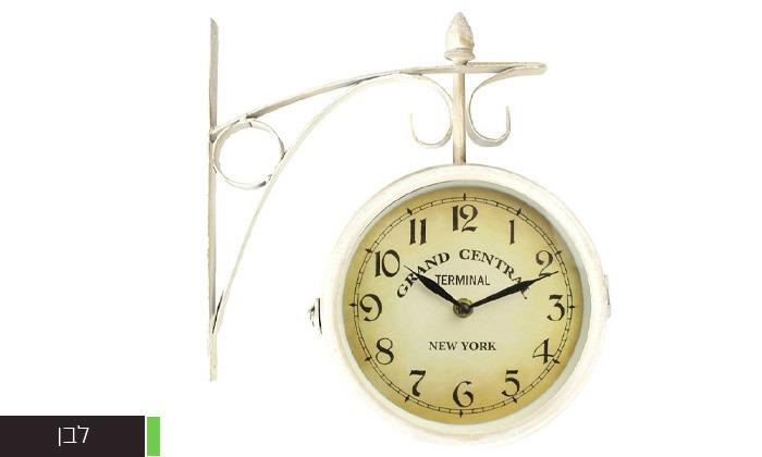 4 שעון קיר דו צדדי בעיצוב וינטג'