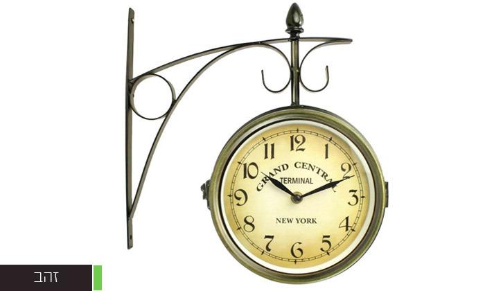 6 שעון קיר דו צדדי בעיצוב וינטג'