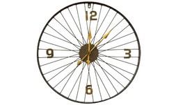 שעון קיר בעיצוב גלגל אופניים