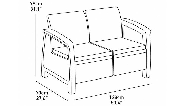 3 דיל ל-24 שעות - כתר: מערכת ישיבה בעיצוב דמוי ראטן - משלוח חינם