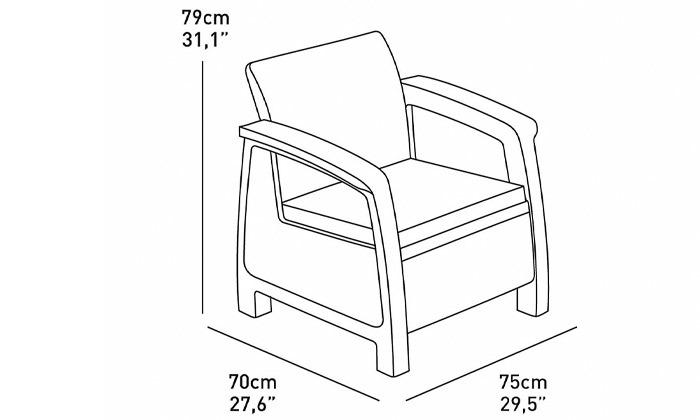 4 דיל ל-24 שעות - כתר: מערכת ישיבה בעיצוב דמוי ראטן - משלוח חינם