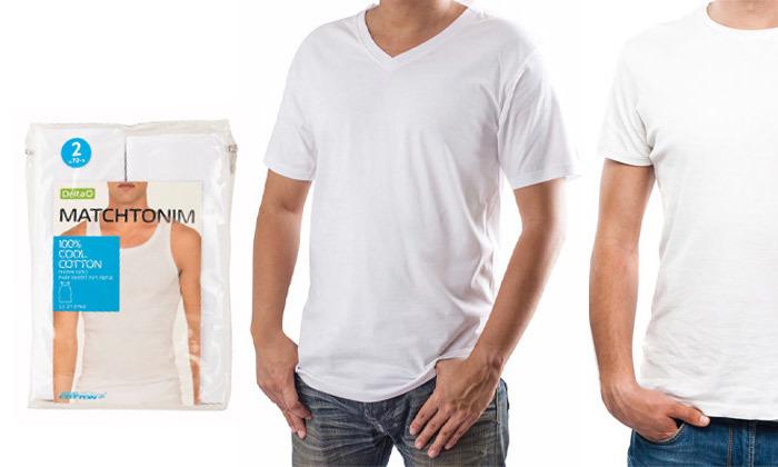 2 רביעיית חולצות ט-שירט לגברים Delta