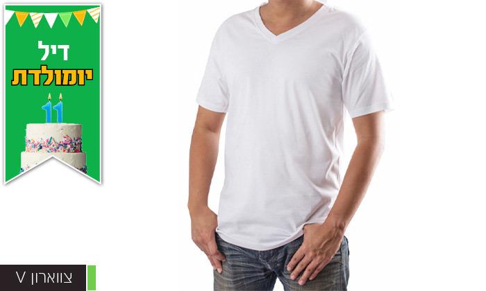 4 רביעיית חולצות ט-שירט לגברים Delta