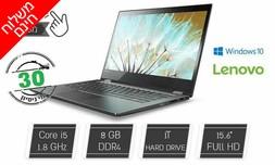 """מחשב נייד Lenovo מסך מגע """"15.6"""