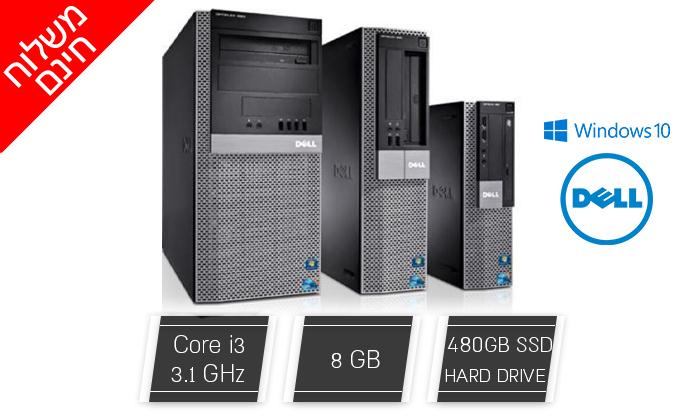 2 מחשב נייח מחודש DELL דגם 980 מסדרת OptiPlex עם זיכרון 8GB ומעבד i3 - משלוח חינם