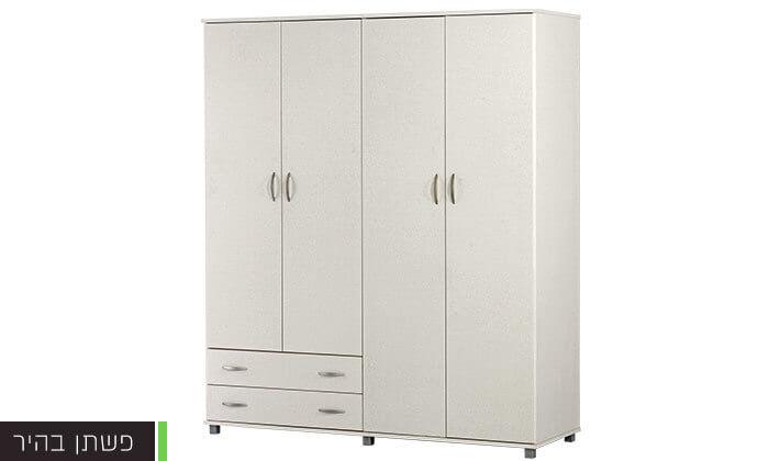 4 רהיטי יראון: ארון בגדים 4 דלתות
