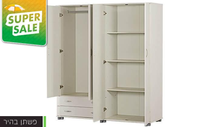 3 רהיטי יראון: ארון בגדים 4 דלתות