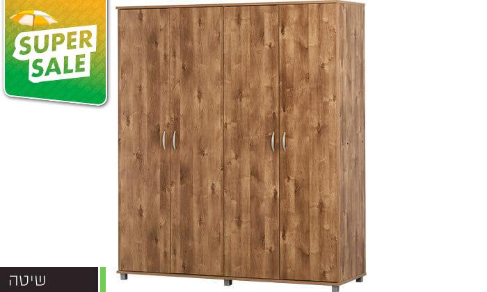 5 רהיטי יראון: ארון בגדים 4 דלתות